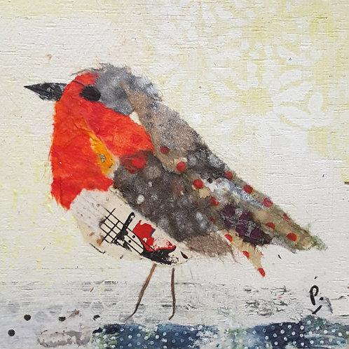 Little Robin Christmas card