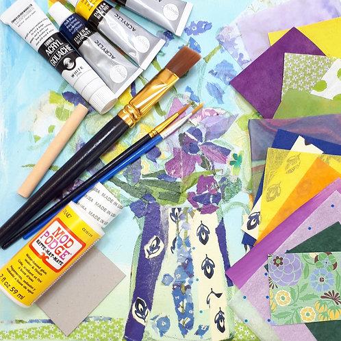 Spring Flowers Collage Kit