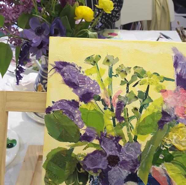 Spring Flowers Mixed Media workshop