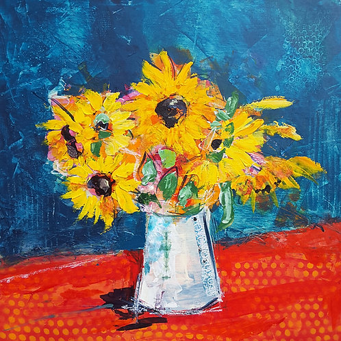 'Sunny Sunflowers' greeting card