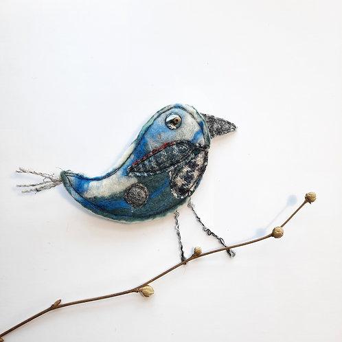 Felt bird brooch 15