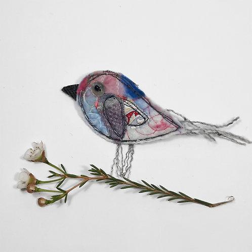Felt bird brooch 2