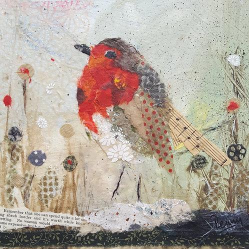 Winter Robin Christmas card