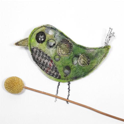 Felt bird brooch 11