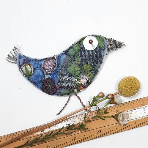 Felt bird brooch 10