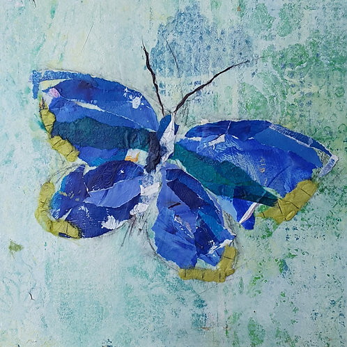 'Butterfly Blue' greeting card