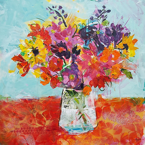 'Garden Glory' greeting card