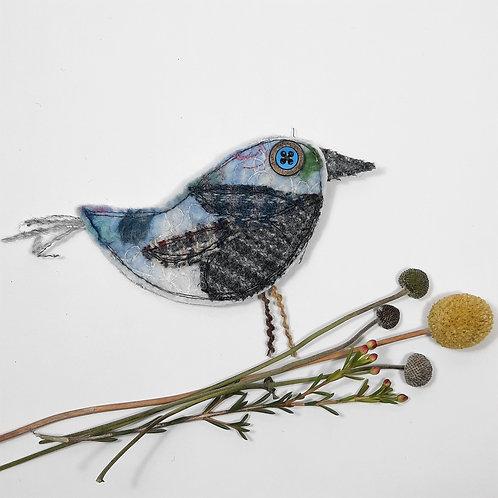 Felt bird brooch 12
