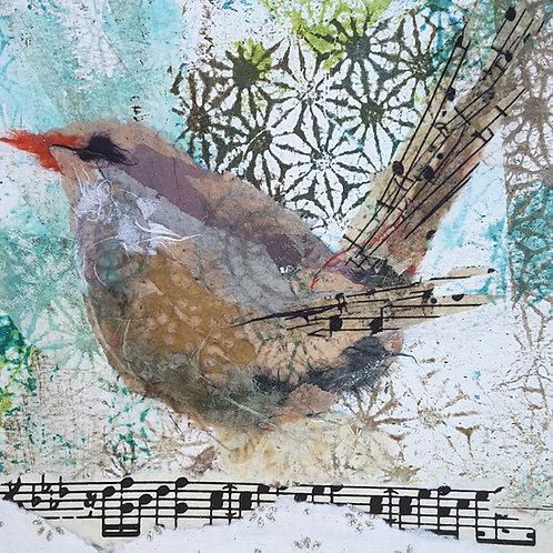 'Little Wren' greeting card