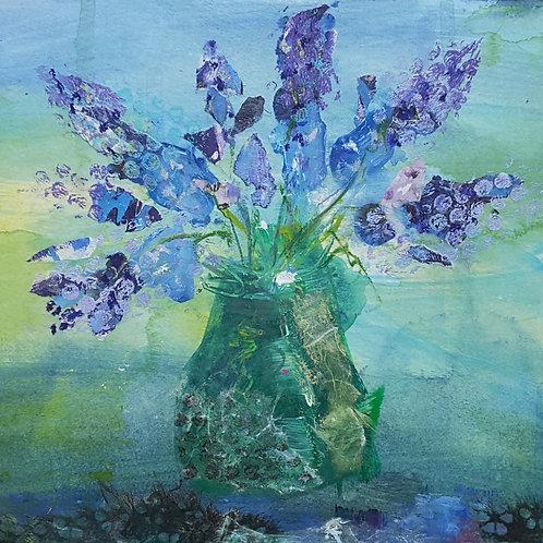 'Spring Blues' greeting card