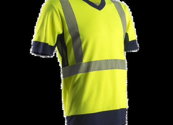 Tee-shirt  jaune ou orange 50%  coton