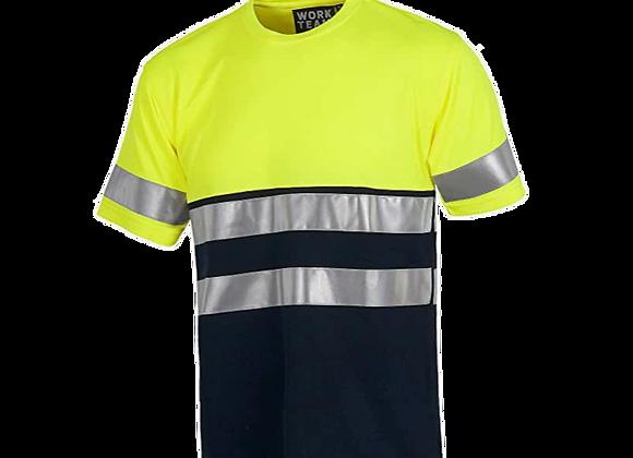 Tee-shirt jaune ou orange haute visibilité classe 1