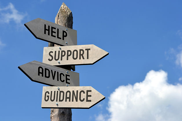 Some of our company's core values:  help, support, advice, and guidance.