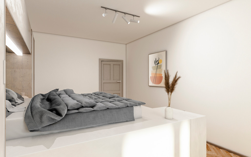 3D_Visualsierung_Schlafzimmer modern Ska