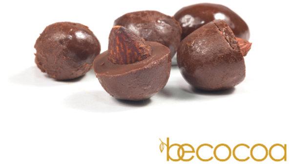 Almendras en chocolate 70% (100 g)