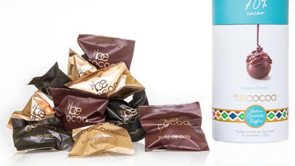 Cilindro 10 trufas surtidas 70% cacao