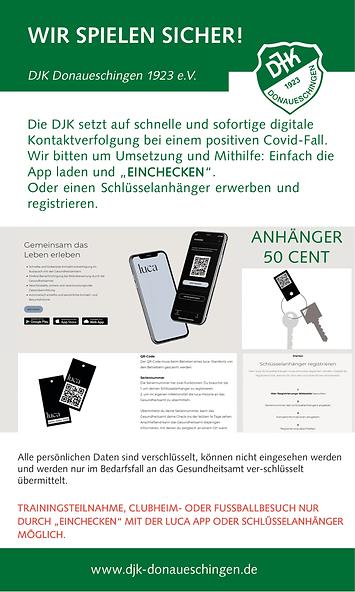 News zur luca App bei der DJK Donaueschingen