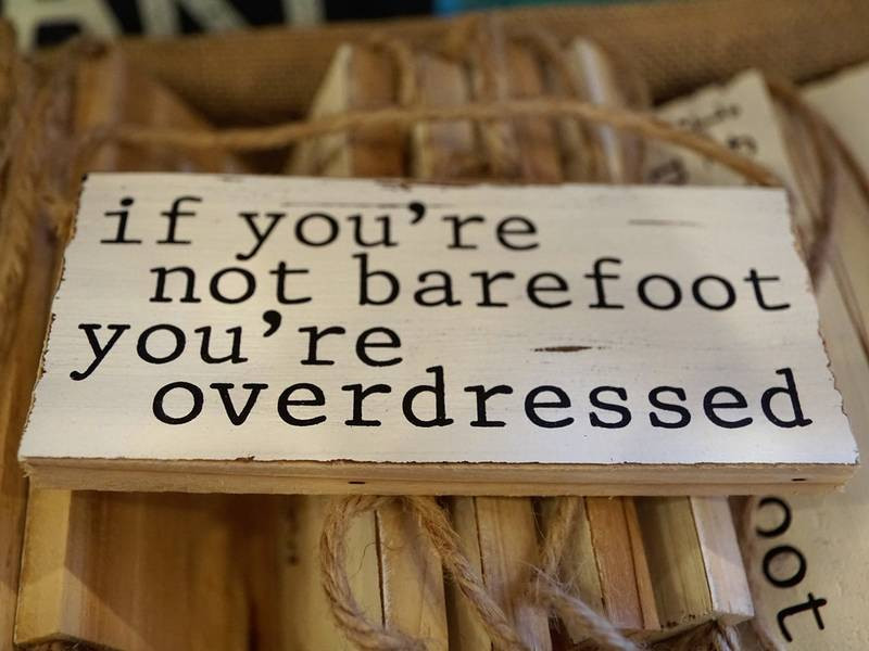 barefoot sign