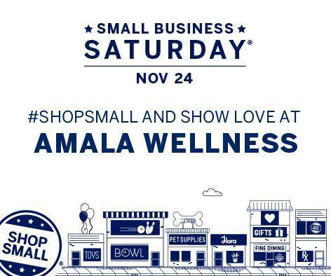 Shop Small at amala wellness