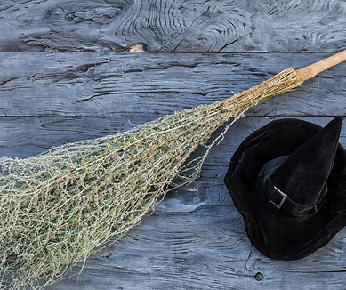 Witch Hat with Witches Broom