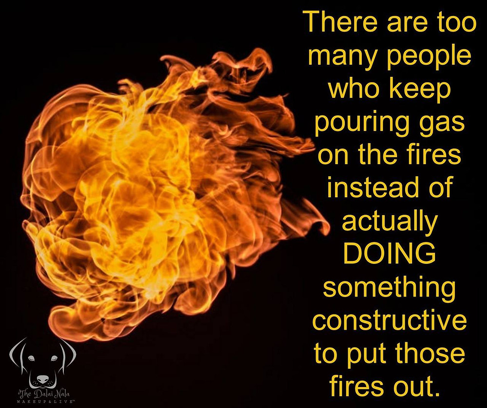 Fire with Quote
