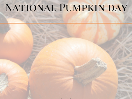 Celebrating National Pumpkin Day - Recipe for you!