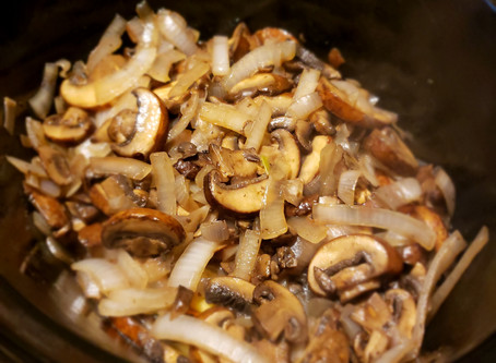 Slow Cooker Beef with Mushroom Gravy!