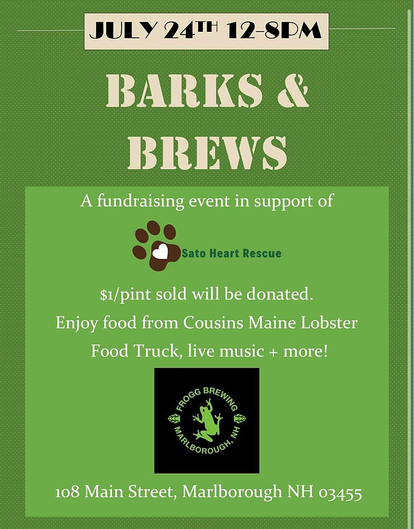 Sato Heart Rescue Fundraiser - Barks and Brews