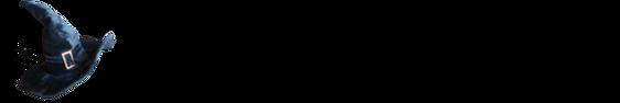 A witches bookshelf logo