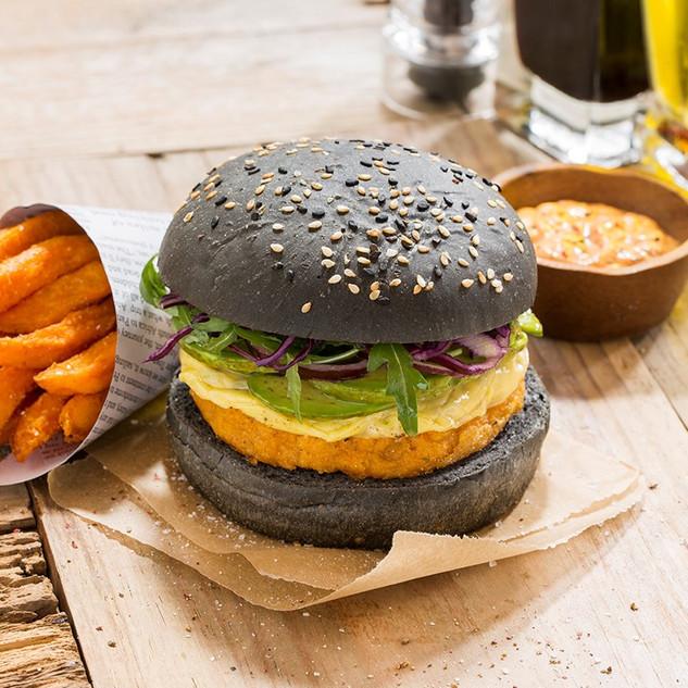 Vegan charcoal bun