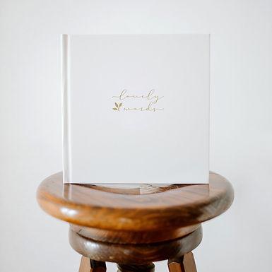 Livro de honra Lovely Words