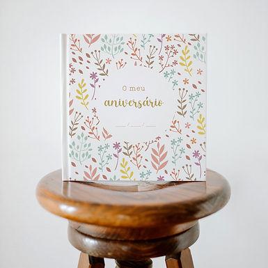 Livro memórias/mensagens - O meu aniversário