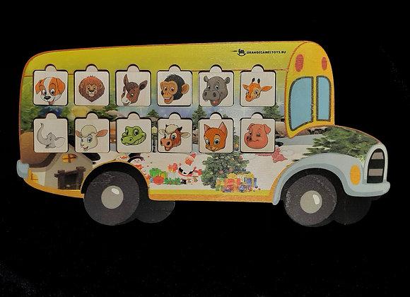 Игровое пособие «Новогодний автобус»