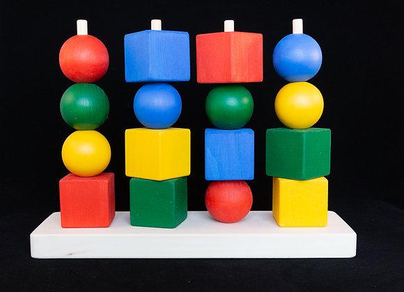 Игровое пособие «Геометрические пирамидки»