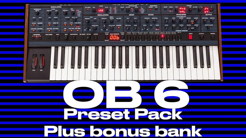 DSI OB 6 Preset Pack 60 sounds