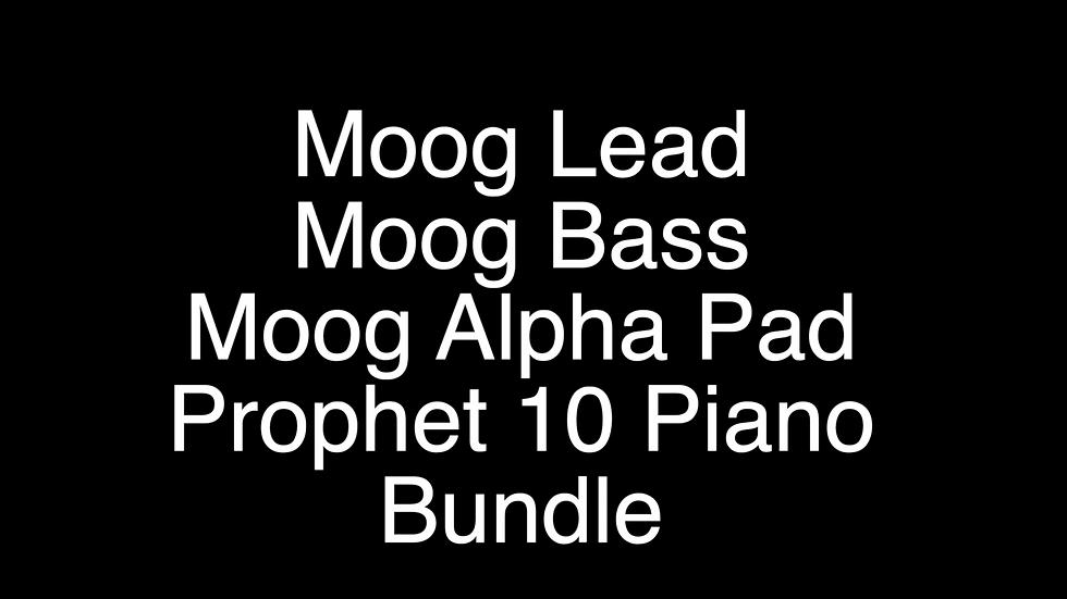 Moog Lead, Bass, Alpha Pad and Prophet 10 Bundle Pack