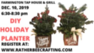 DIY Holiday Planter at Farmington Tap House