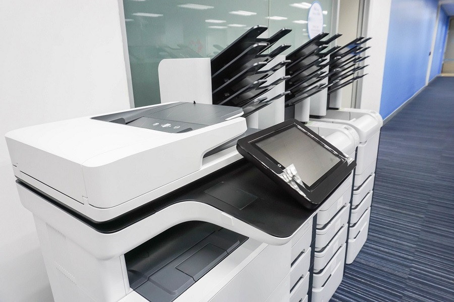 Large copy machine in office