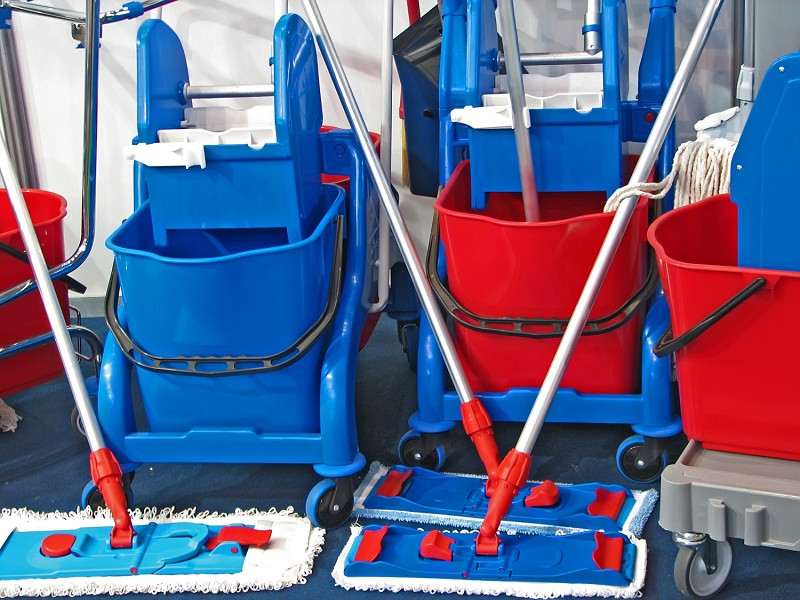 Mopping Buckets and Mops
