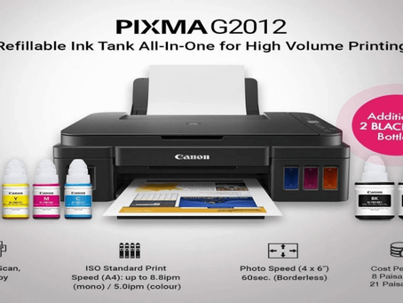 An Overview of Canon Pixma G2012 All-in-One Ink Tank Color Printer