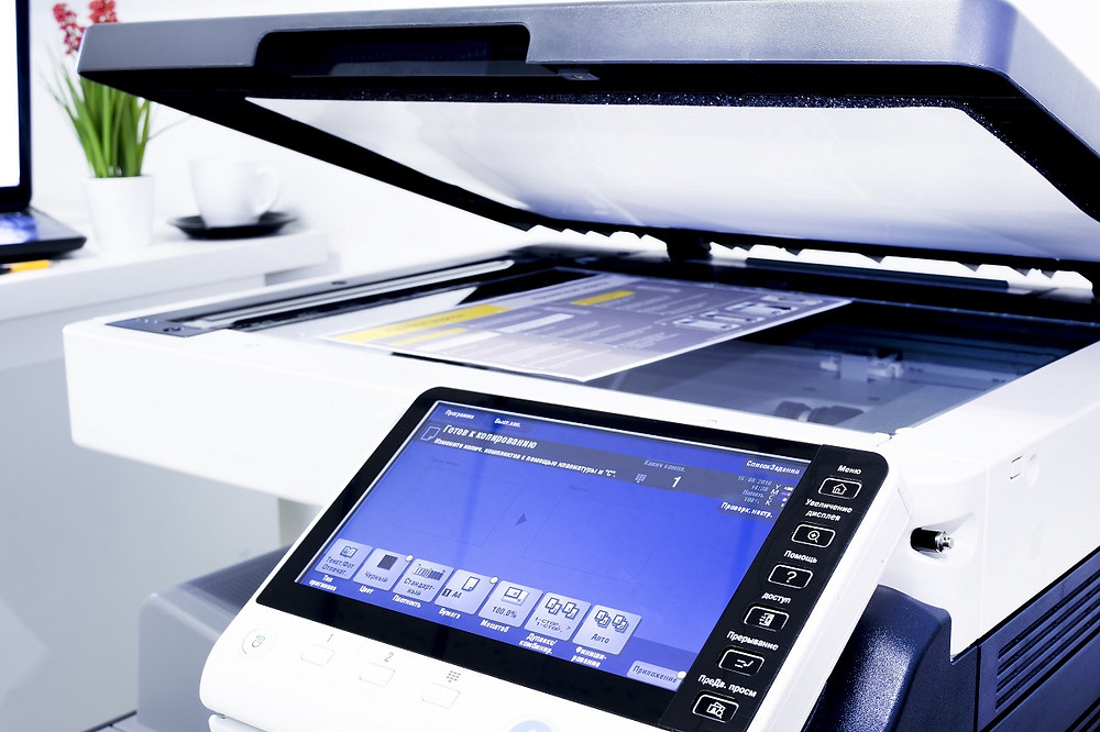 Office printer with touchscreen display