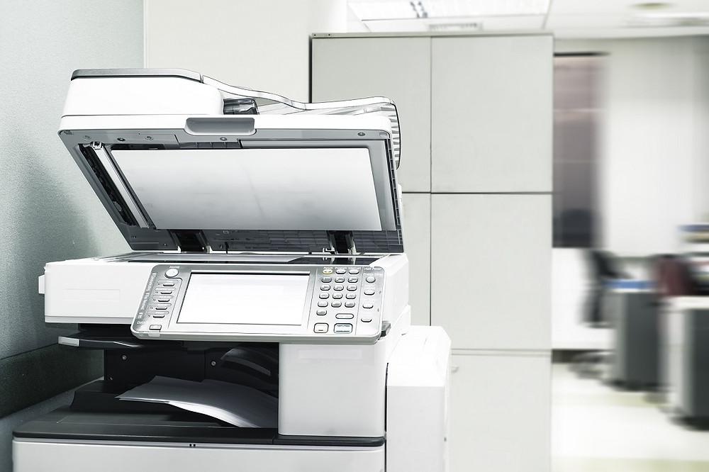 Copy machine in office