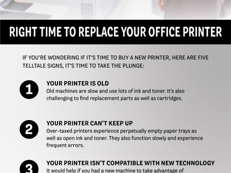 Right Time to Replace Your Office Printer