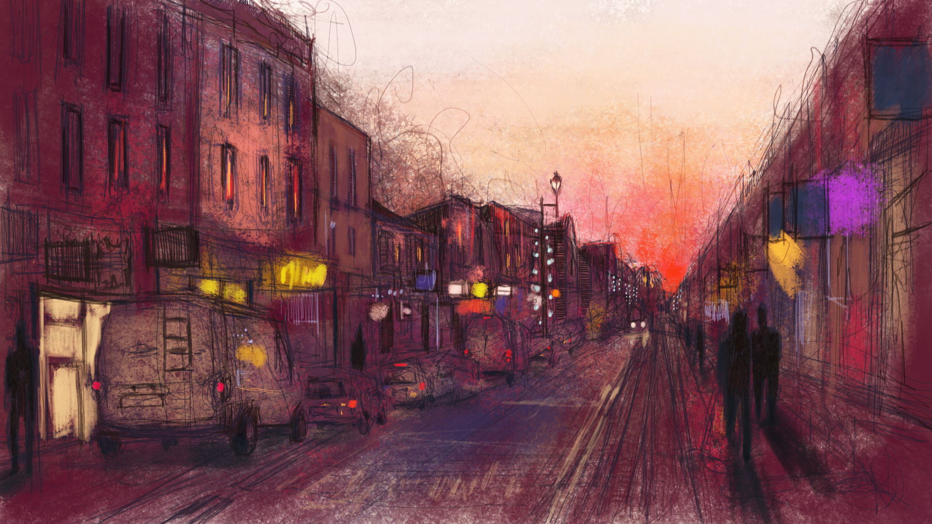 Surbiton, digital painting