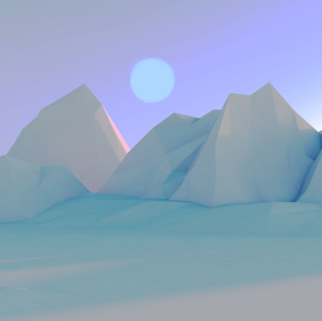 Low poly mountains - Cinema 4D