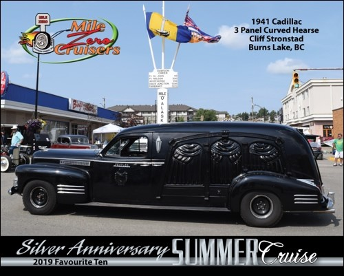 1941 Cadillac 3 Panel Curved Hearse