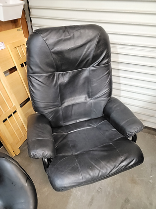 Black Upholstered Swivel / Reclining Accent Chair / Office Chair