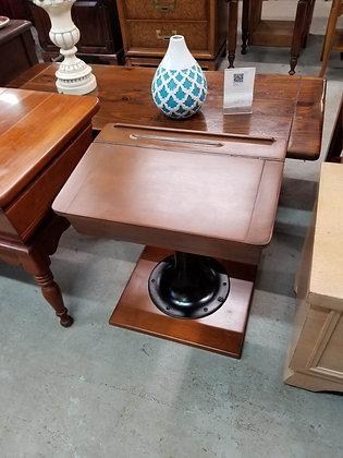 Flip Top Wood Children's Desk w/ Metal Pedestal Base
