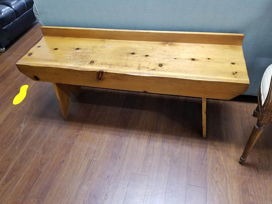 Country Style Pine Wood Bench