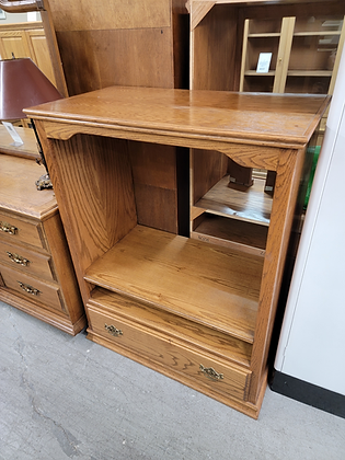 Oak Wood Tv Stand / Entertainment Cabinet with Drawer